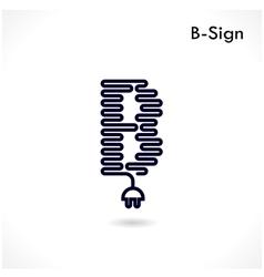 Creative B letter icon abstract logo design vector image