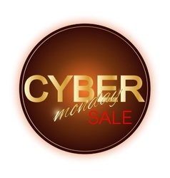 Cyber Monday Sale sign template Promotional vector