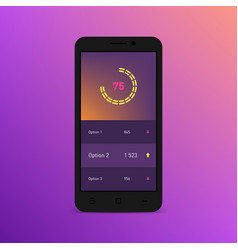 Dashboard infographic template on the smartphone vector