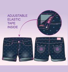 Denim shorts vector