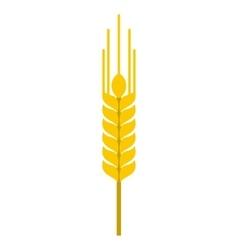 Ear of barley icon flat style vector