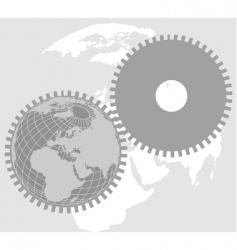 earth wheel vector image