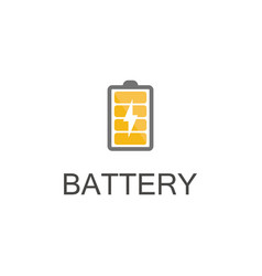 energy battery logo vector image