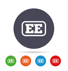 Estonian language sign icon ee translation vector