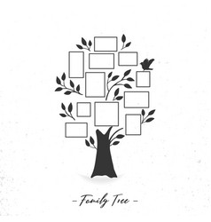 Family tree with photo frames vector