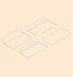 flat isometric of blank paper vector image