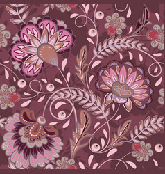 Floral pattern flourish tiled oriental ethnic vector