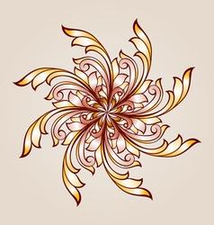 Flower pattern henna vector image