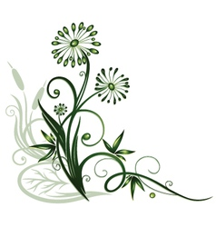 Flowers water vector
