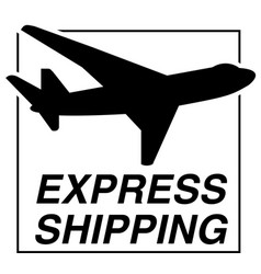flying airplane express delivery shipping concept vector image
