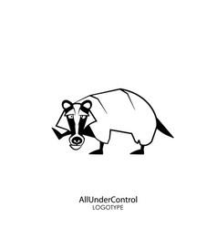 Funny wild badger vector