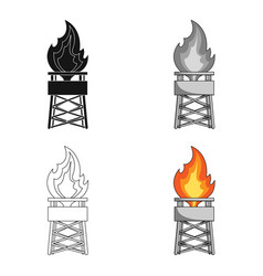 gas toweroil single icon in cartoon style vector image