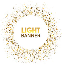 glitter circle banner on white background festive vector image