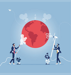 global warming concept-stop warming concept vector image