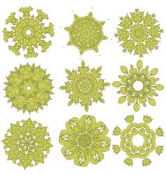 green embroidery vector image
