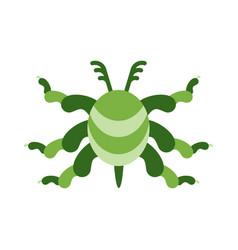 green virus color icon vector image