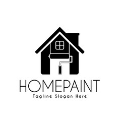 home paint service logo design template paint vector image