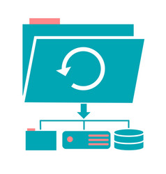 icon backup day vector image