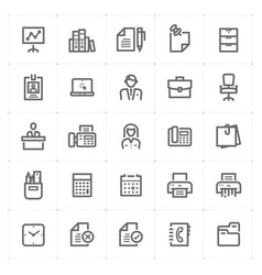 icon set - office and stationary vector image
