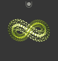 infinity symbol 3d design element emblem icon vector image