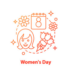 International womens day concept icon vector