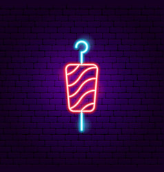 Kebab neon sign vector
