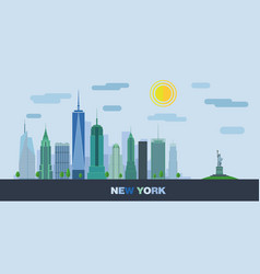 Landscape of skyscrapers of new york city vector