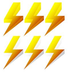 Lighting bolt sparkle shape lighting bolt vector