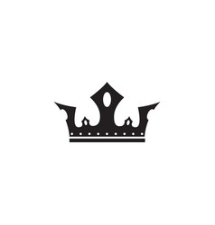 medieval royal crown black silhouette or icon vector image