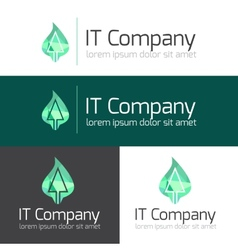 minimalistic it or design studio logo vector image