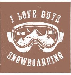 mountain snowboard logo snowboarder goggles vector image