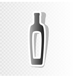 Olive oil bottle sign new year blackish vector