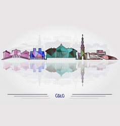 oslo city background vector image