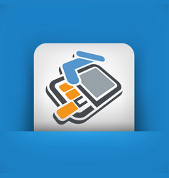 Pack of cigarettes 3d icon vector