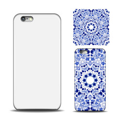 phone cover design reverse side of smartphone vector image