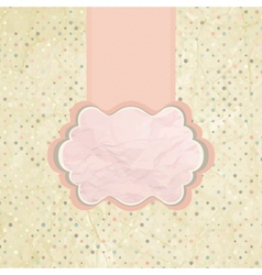Polka dot Invitation Background vector image vector image