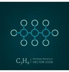 Propane Molecule Icon vector
