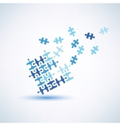 puzzle square abstract symbol business and vector image
