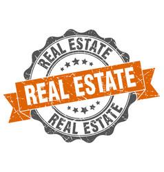 Real estate stamp sign seal vector