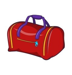 Red sports bag icon cartoon style vector