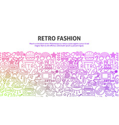 retro fashion concept vector image