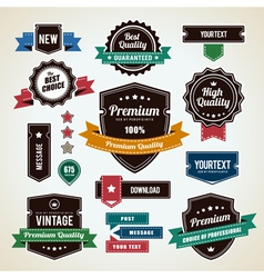 Retro Labels 1 vector image