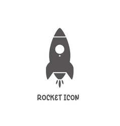 rocket icon simple flat style vector image