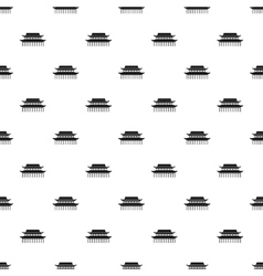 Sacred temple pattern simple style vector