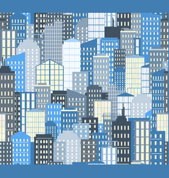 Seamless urban landscape city background vector