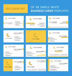 Set of 12 cresent creative busienss card template vector