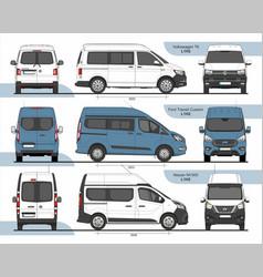 Set passenger vans l1h2 2015 vector