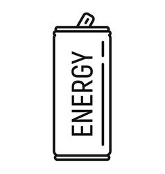 Soda energy drink icon outline style vector