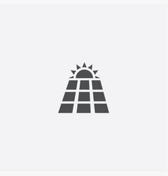 Solar energy icon vector