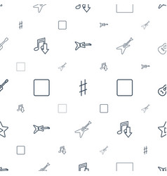 song icons pattern seamless white background vector image